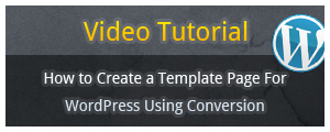 Conversion WordPress Page Template